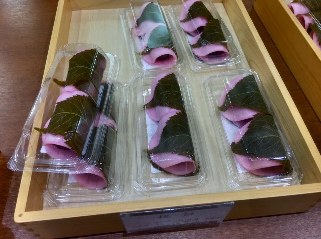 Sakura mochi, ready for sale