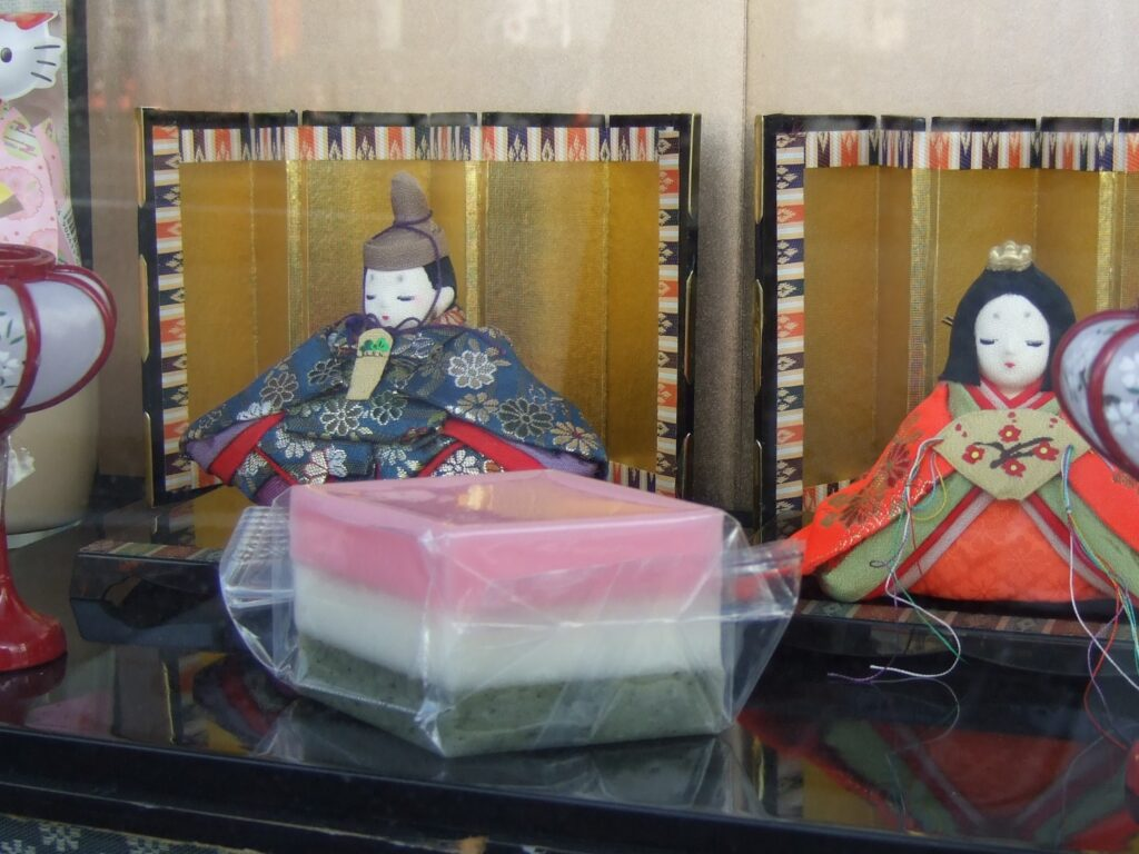 Hishi mochi made for Girl's Day celebration