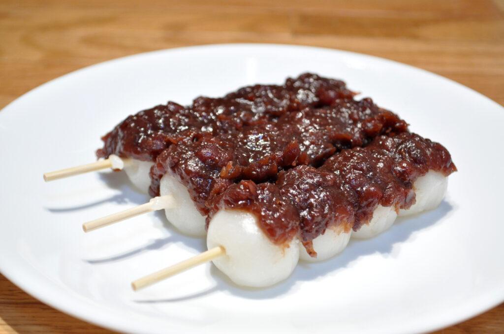 Mochi balls on a stick - Dango