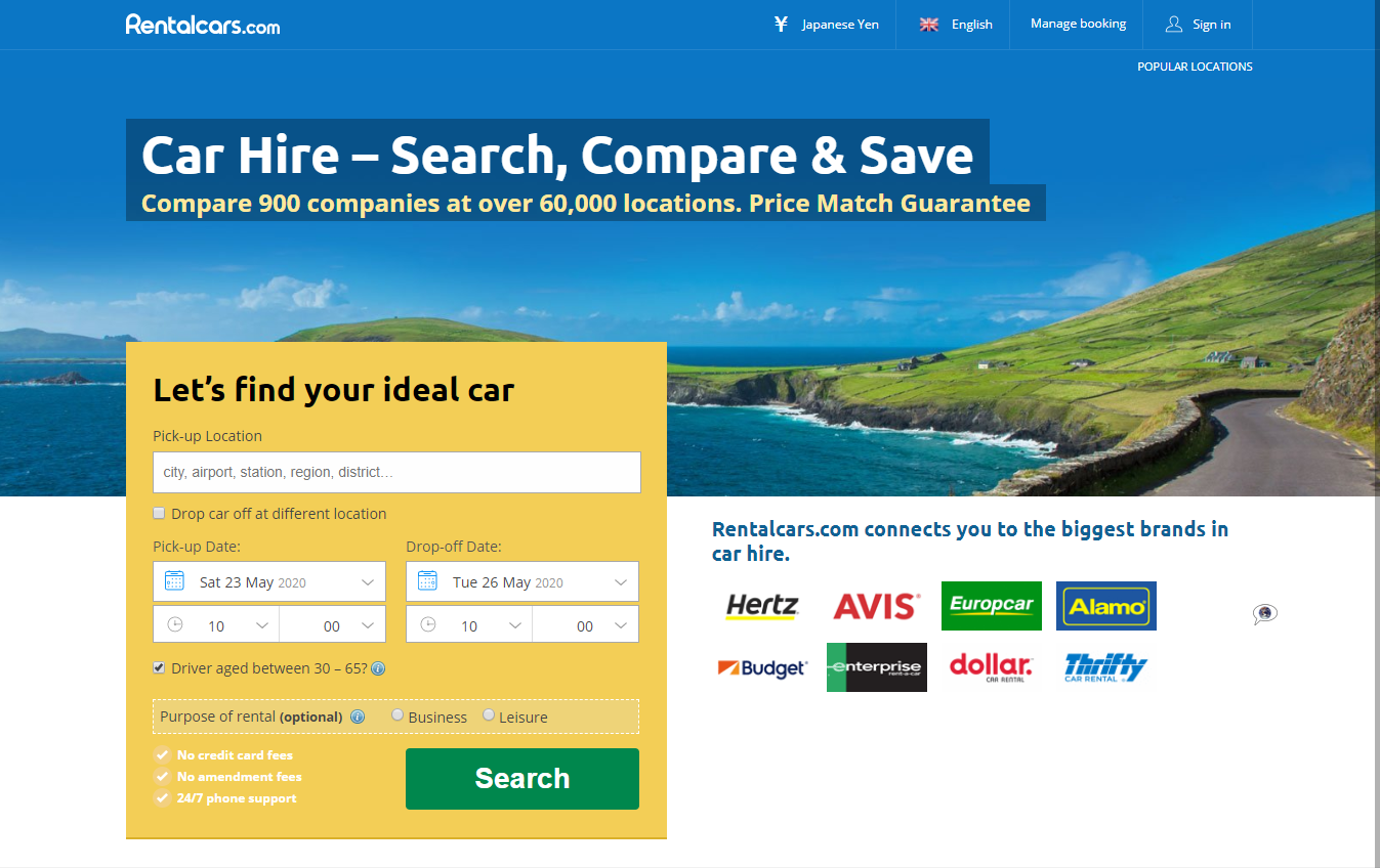 Car Rentals Website