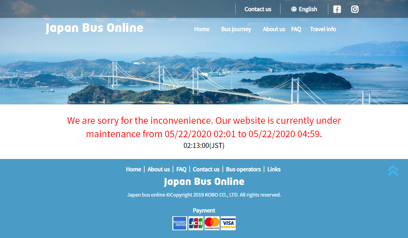 Japan Bus Online Website