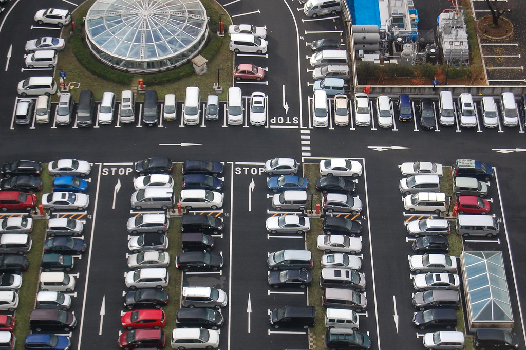A parking lot in Tokyo