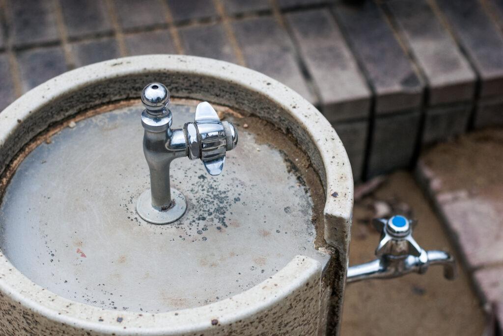 Public water tap in Japan