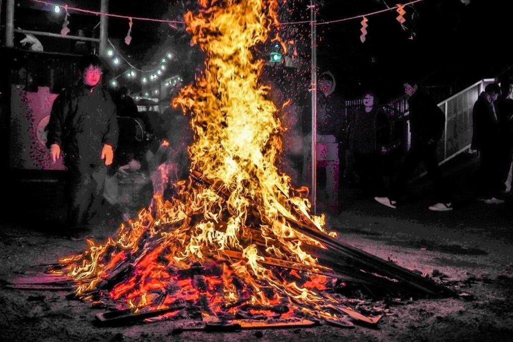Dondo Yaki bonfire