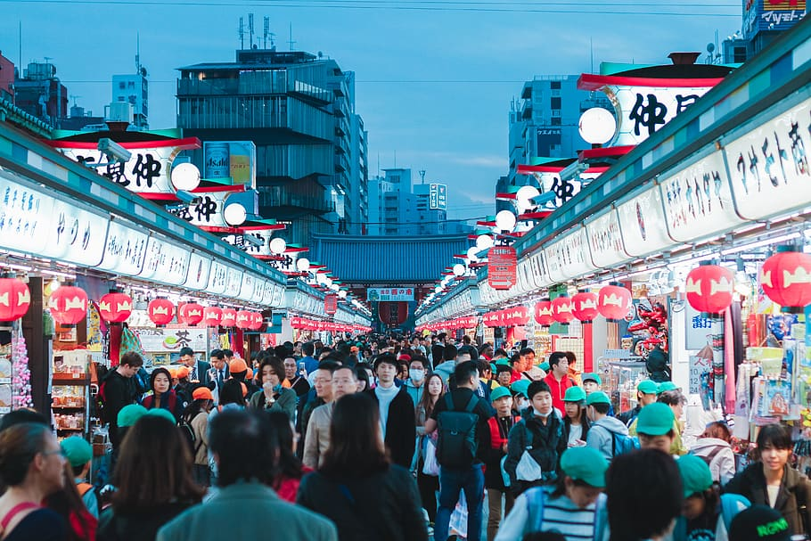 Nakamise Shopping Street, Tokyo.
