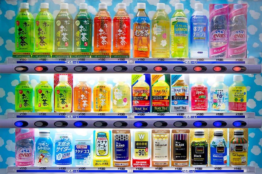 water in vending machine in japan