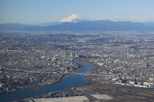 View of Mt Fuji from Tokyo