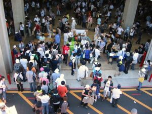 Otaku gathered at an event in Tokyo