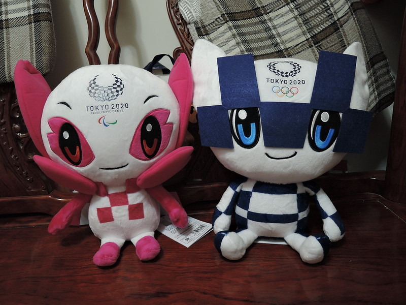 Someity (left) and Miraitowa (right) are the official Tokyo 2020 mascots.