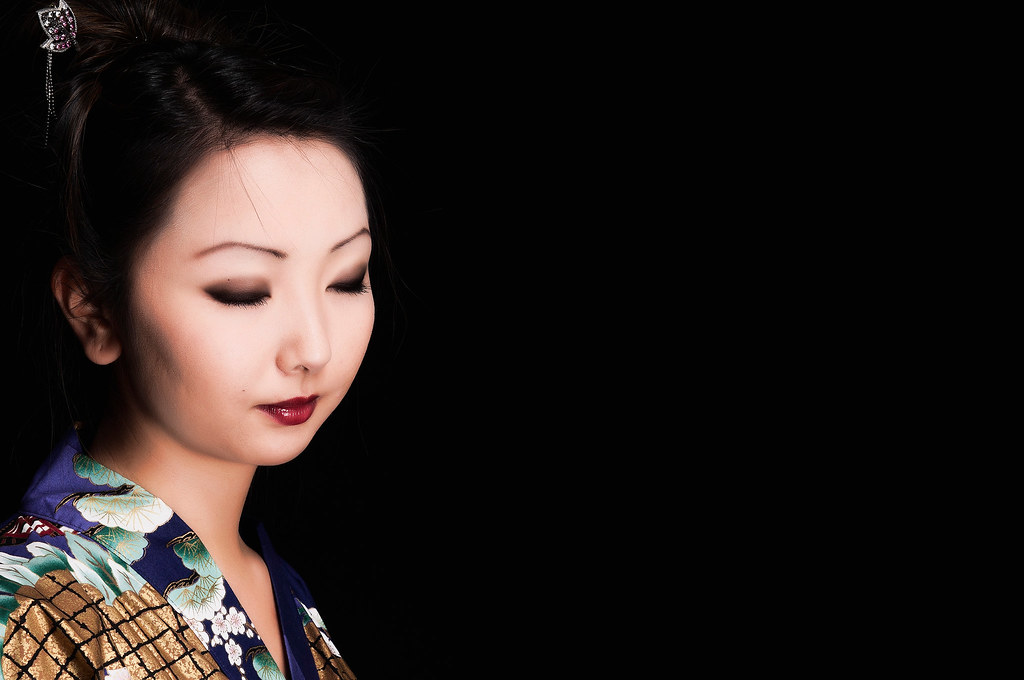 Japanese lady with makeup