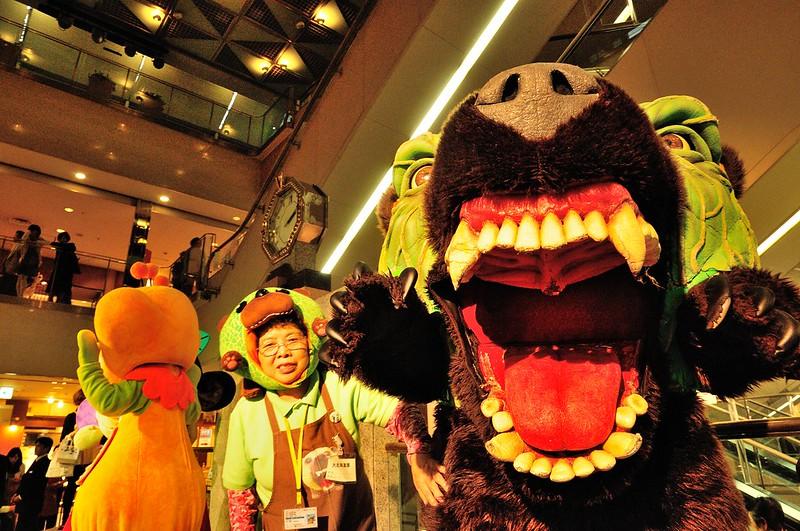 Kimo-kawaii mascots have a more grotesque appearance