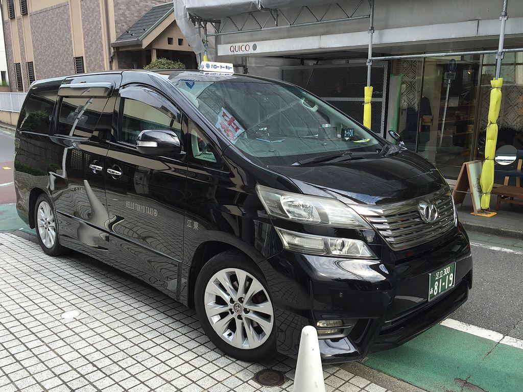 A Toyota Vellfire Japanese Taxi
