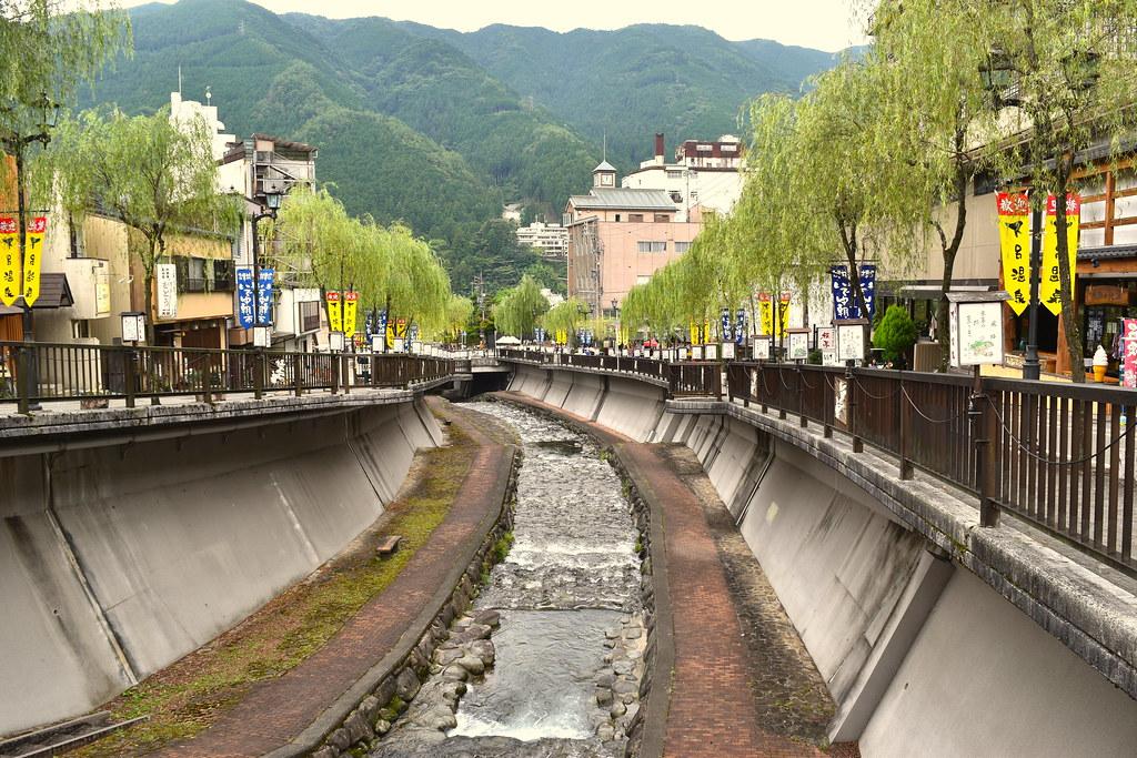 Gero onsen river