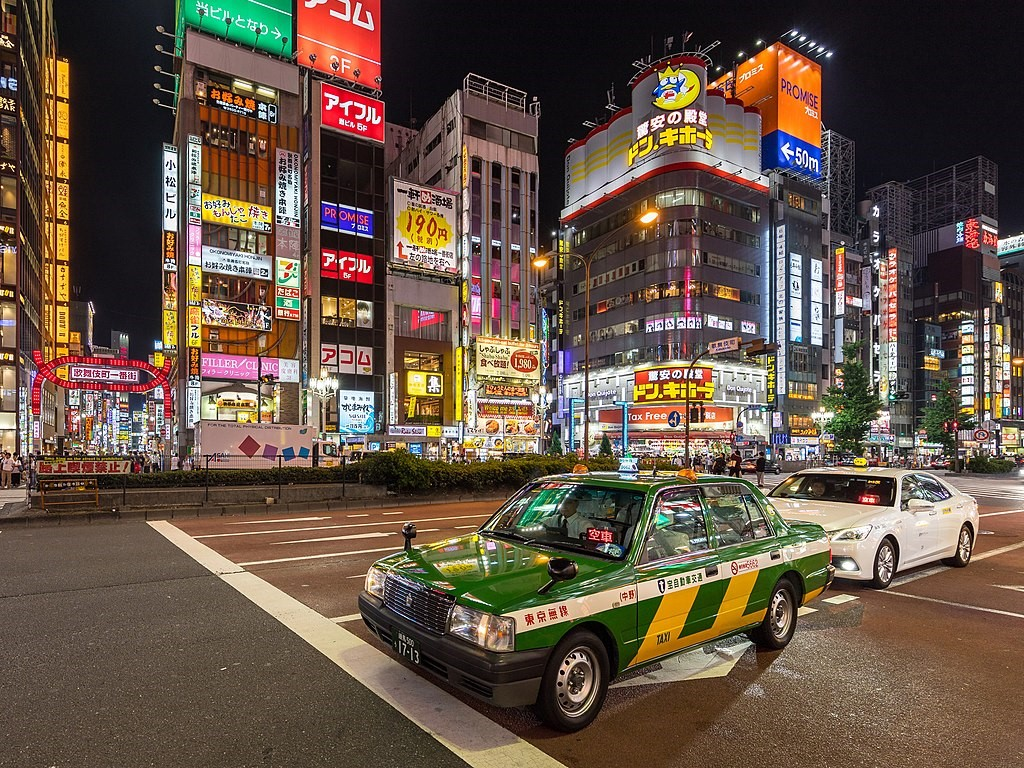 Nighttime Taxi Japan