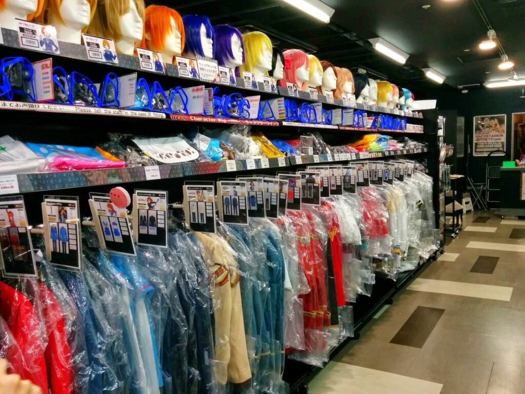 Inside a Cosplay store in Akihabara