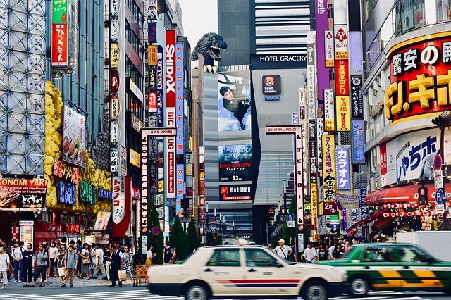 Big-box electronic retail stores in Shinjuku, Tokyo