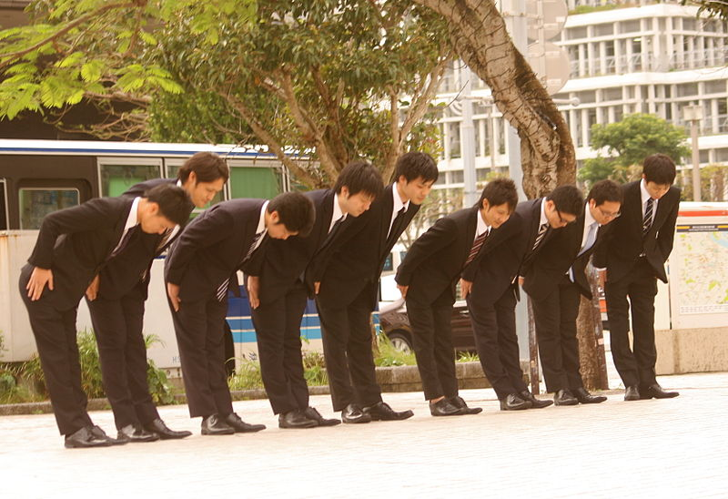 Bowing in Japan
