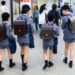School boys with backpacks in Japan