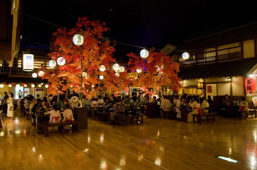 Main square of Oedo Onsen Monogatari