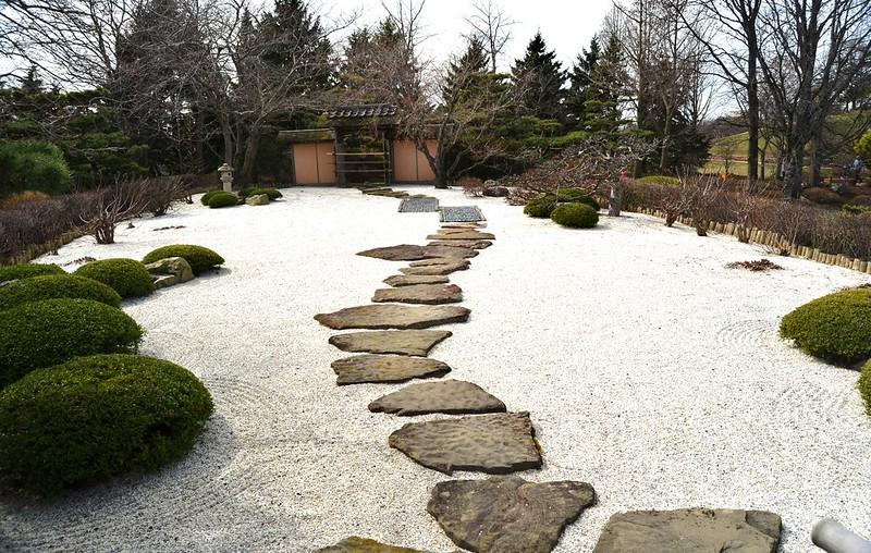 Zen garden at the Chicago Botanic Garden. Photo by Robert Coffey on www.flickr.com.
