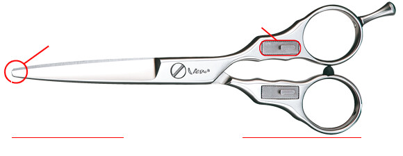 Shears with rounded edges. Image for representation. Photo by VernScissors on Flickr.
