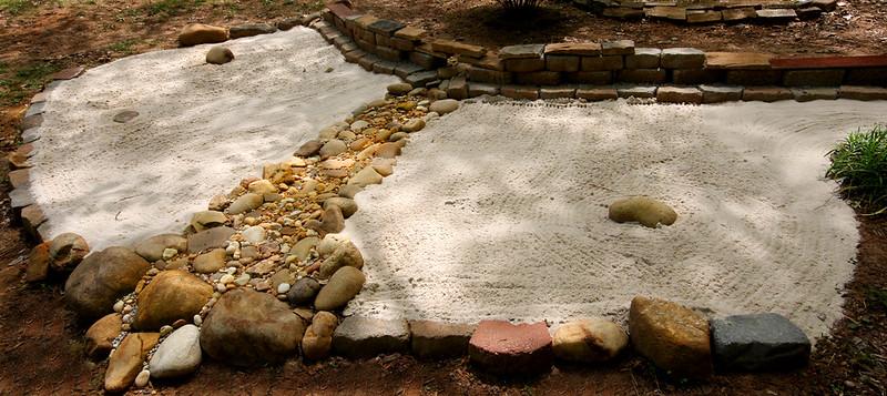 Effect of water through Zen Garden designing. Photo by Reid on www.flickr.com.