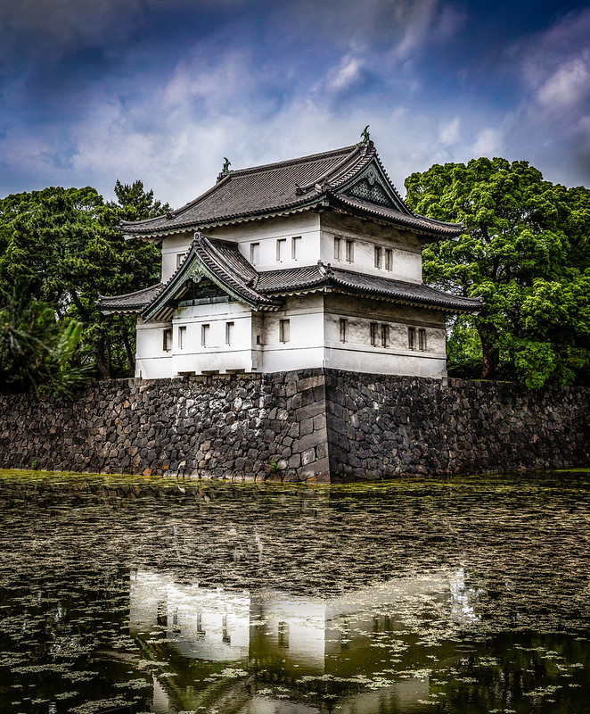 The White Tower of the Imperial House of the Emperor of Japan. Photo by King Grecko on www.flickr.com