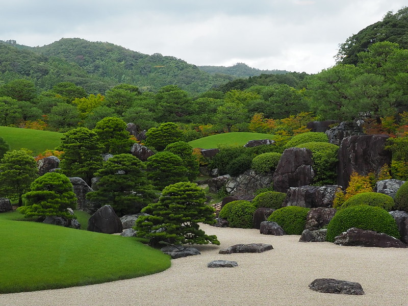 Zen garden at the Adachi Museum of Art. Photo by Benno Weissenberger on www.flickr.com.