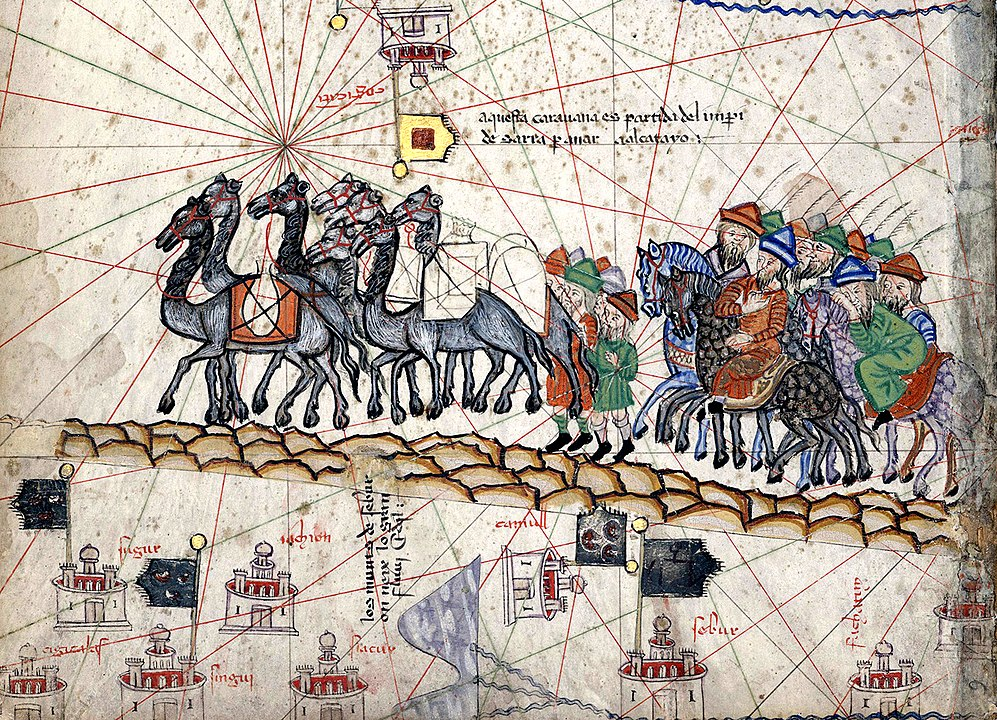 Marco Polo and his caravan.