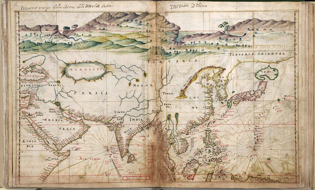 An ancient Portuguese map of Asia