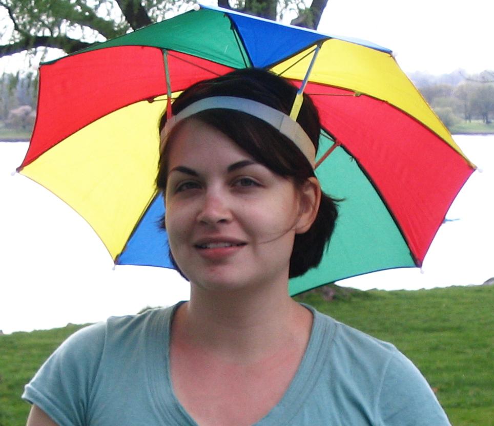 Headband Umbrella. Photo on Wikimedia Commons.